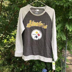 NWT NFL Pittsburgh Steelers Gray Sweat Shirt Women